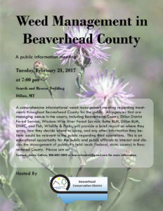 Beaverhead County Weed Management Meeting @ Search and Rescue (Dillon)
