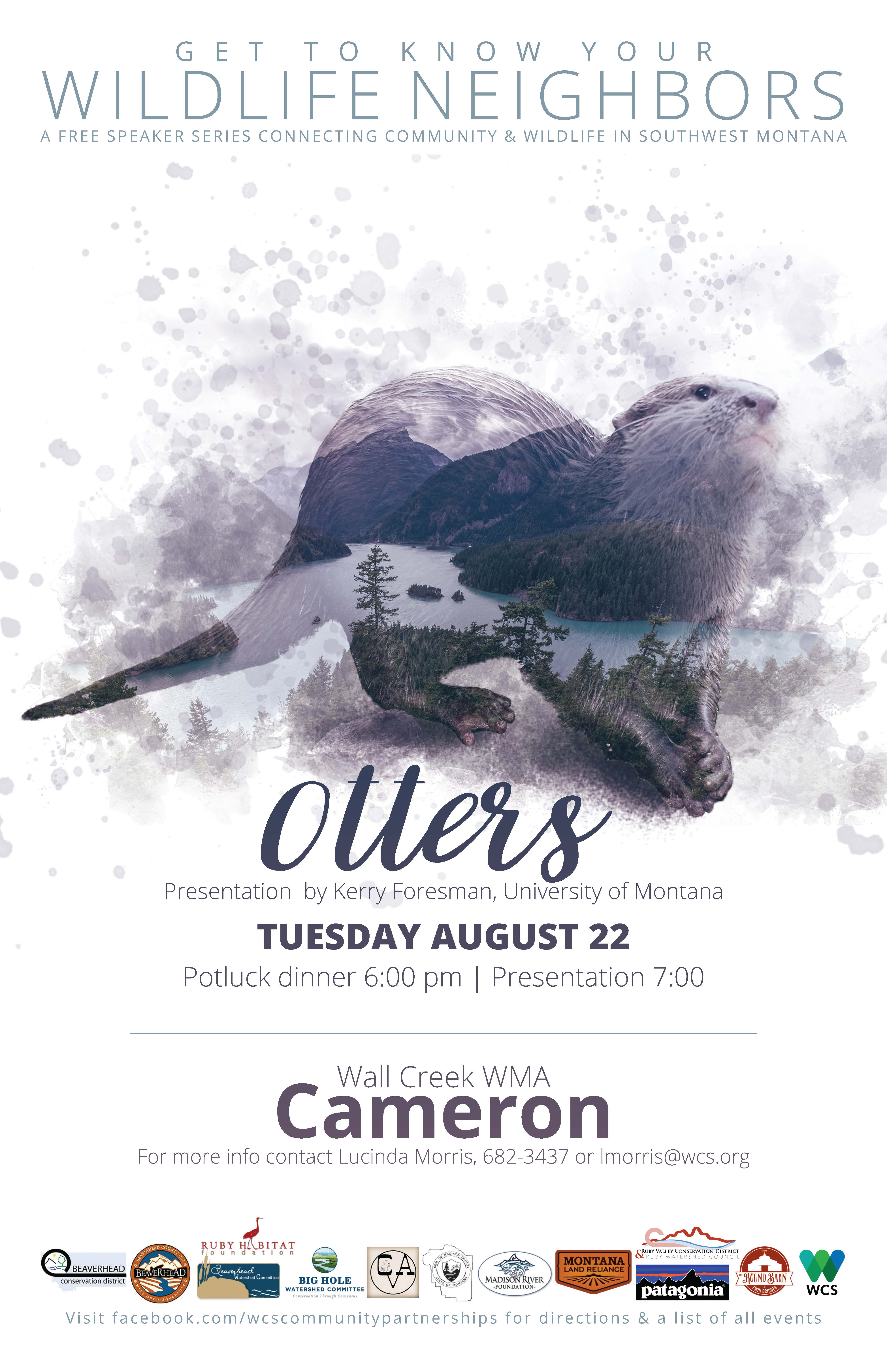 Wildlife Speaker Series Event - Otters @ Wall Creek Wildlife Management Area