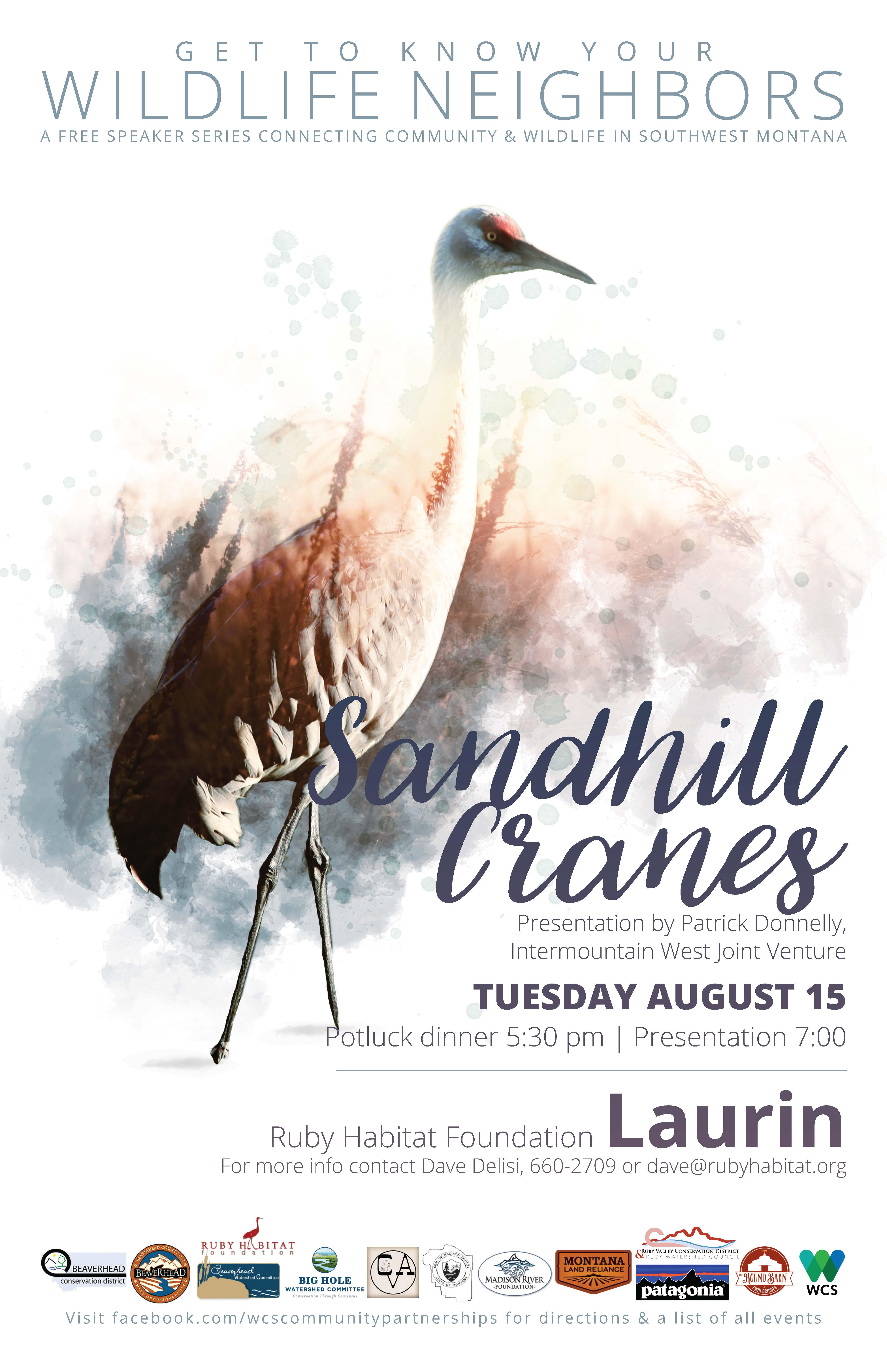 Wildlife Speaker Series Event - Sandhill Cranes @ Ruby Habitat Foundation