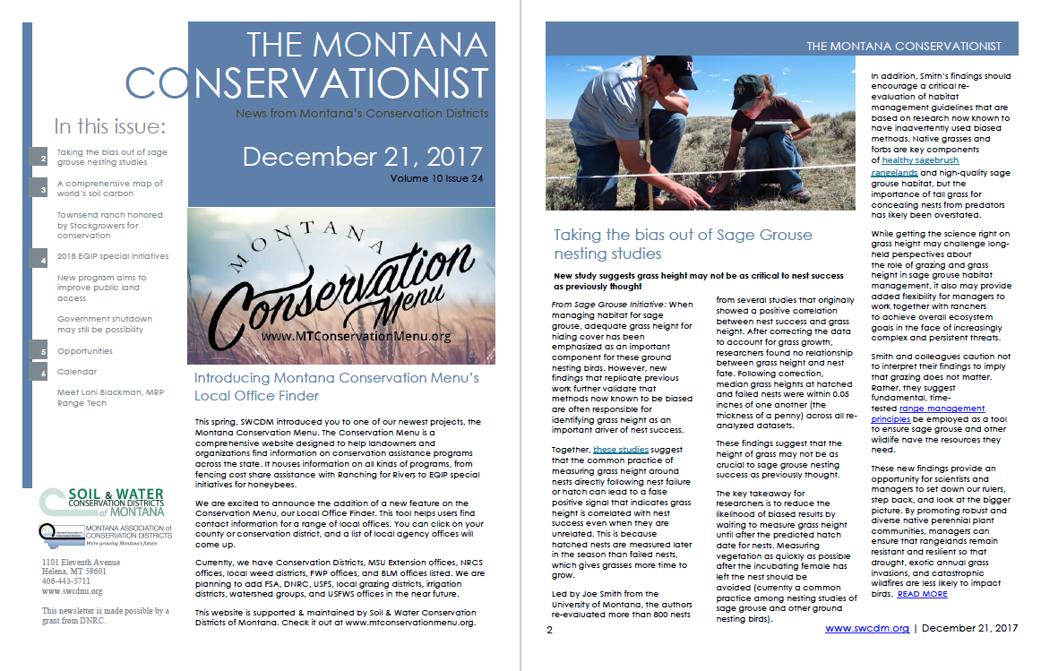 The Montana Conservationist, December 22